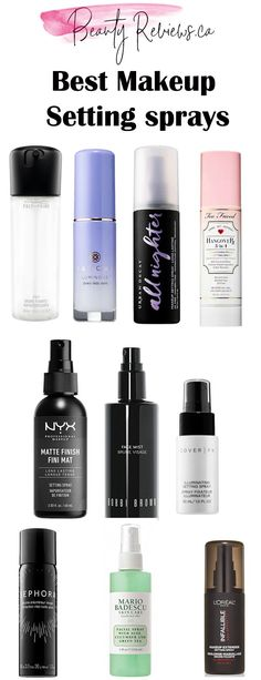 10 best makeup setting sprays you need to check out right now! Is your favourite brand on the list?