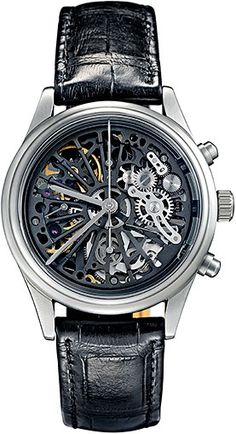 Chronograph Classic Skeleton Watch from Swiss Watchmakers Maurice de Mauriac. womens watches, swiss watches