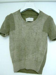 flat garment series: painted knit top • martin margiela