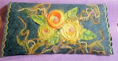American Beauty Yellow Rose Clutch by theArtsyClutch on Etsy, $40.00