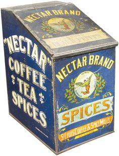 Nectar Brand Tin Store Spin Bin : Lot 286