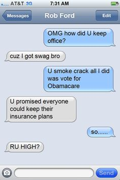 Rob Ford's secret texts to Mark Pryor Mark Pryor, Rob Ford, Tom Cotton, Texts, Messages, Humor, How To Plan, Humour