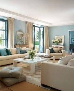 Beautiful coastal themed living room decorating ideas to make your home so cozy (35)