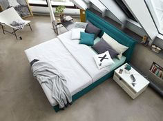 #petrol #boxspring #bed #bedroom #now!byhuelsta #hulsta #now!boxspring