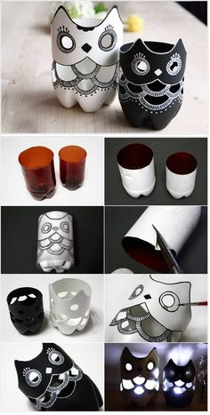 DIY: Plastic Bottle Owl