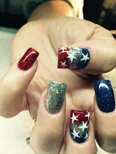 Forth of July #nails #nailart