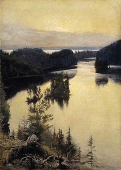 Kaukolanharju auringonlaskun aikaan, 1889-1890