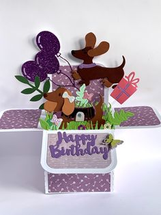 Pop Up Box Cards, Dachshund, Minnie Mouse, Disney Characters, Fictional Characters, Art, Art Background, Weenie Dogs, Kunst