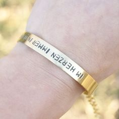 cff925602578 Items similar to personalized bracelet - brass 7 mm on Etsy. Pulseras  PersonalizadasAlta ...