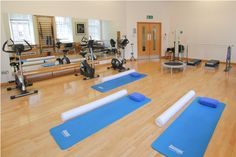 The gym at physiotherapy clinic at The Hospital of St John and St Elizabeth, St John's Wood