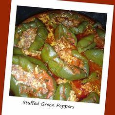 Savory Beef Stuffed Green Peppers