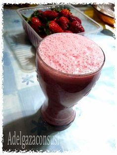 Adelgaza Con Susi - Recetas Light: Batido de fresas con avena ( 142kcal)