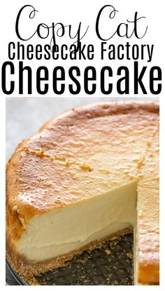 Cheesecake Factory Recipes, Easy Cheesecake Recipes, Creamy Baked Cheesecake Recipe, Best Ever Cheesecake Recipe, Homemade Cheesecake, Restaurant Recipes, Desert Recipes, Snack, Food Cakes