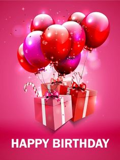 6765 best birthday greetings images on pinterest in 2018 happy send free fantastic pink birthday balloon card to loved ones on birthday greeting cards by davia its free and you also can use your own customized m4hsunfo