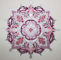Persian Illuminations (Tazhib) artwork by Mojgan Lisar: Shamseh | Islamic Art | Pinterest | Persian, Artwork and Islamic