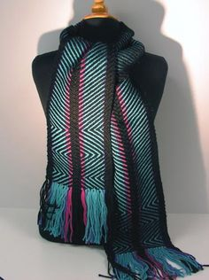 Susan Grant - turquoise and black scarf