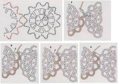 Resultado de imagem para como emendar flores de croche em blusa