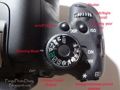 Pang's Photo Diary: Canon Rebel T3i - What Are All These Buttons and What Do They Do?
