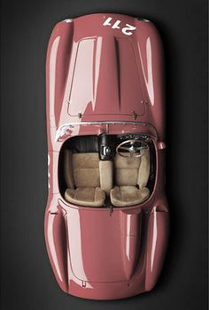 Pink jaguar convertible