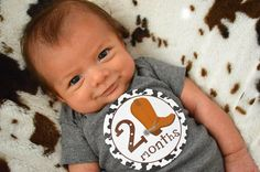 Monthly Onesie Stickers for Little Cowboys.Baby Shower Gift for New Mom- Western Baby - Boy Onesie Stickers - Month to Month Sticker Western Nursery, Nursery Boy, Western Babies, Country Babies, Cute Kids, Cute Babies, Baby Shower Gifts, Baby Gifts, Cowboy Baby Shower