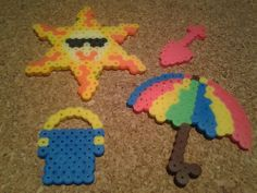 Summer perler beads - Craft Geek from Gallifrey