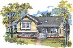 Eplans House Plan: Craftsman styling and a welcoming porch create marvelous curb appeal for this design. A volume ceiling covering the living room, dining room, and kitchen makes this home feel larger than its modest square f House Plans And More, Best House Plans, Small House Plans, Tri Level House, Split Level House Plans, Monster House Plans, Outdoor Pergola, Pergola Plans, Country Style House Plans