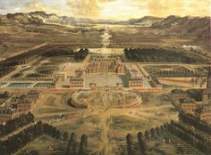 1.Pierre Patel A Bird's Eye View of the Palace and Gardens at Versailles, 1668. Oil on canvas, 115 x 161 cm. Musée du Château Versailles