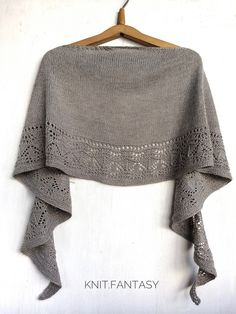 Ravelry: Shawl «Misty morning» pattern by Knit.Fantasy