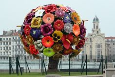 """flower tree"" by jeong-hwa choi, lyon, france."