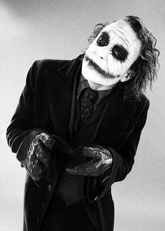 Heath Ledger as the Joker.