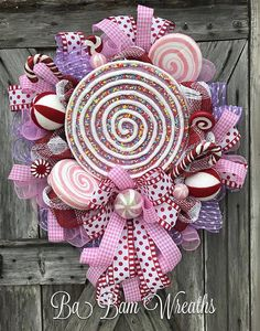 Candy Land Wreath Reserved for Melinda Thank you so much and Merry Christmas