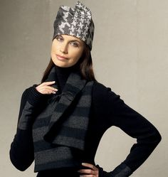 Scarves, Fingerless Gloves and Hat.  I love hat G, not quite my style but I would sport it.