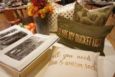'You are my bucket list' pillow is adorable for your significant other, especially if you're newly moved in together or newly married.