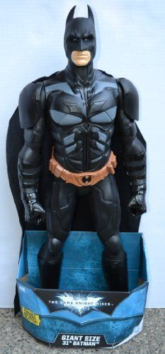 """Batman The Dark Knight Rises GIGANTIC 31"""" Inches Tall Detailed 5-Point Moveable Figure Cloth Cape MADE IN U.S.A. by Creative Designs International, LTD. $78.49. Poseable-5 Moveable points-neck, arms and legs. Lots of Detail-CLOTH CAPE. 31"""" Inches Tall, 12"""" from shoulder to shoulder, approx. 3 1/2"""" width. MADE IN THE UNITED STATES OF AMERICA. Amazingly Large. Fantastic Size-31 inches of BATMAN-The Dark Knight Rises. Made of heavy, solid, durable, black plastic. Made to stand..."""