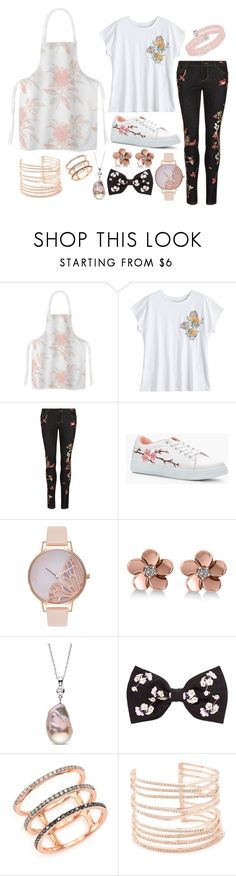 """""""A rose can never be a sunflower, and a sunflower can never be a rose. All flowers are beautiful in their own way."""" by roosje-achtacht ❤ liked on Polyvore featuring Alice + Olivia, Boohoo, Olivia Burton, Allurez, EF Collection, Alexis Bittar and Swarovski"""