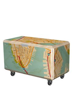 Cartography Rolling Storage Trunk...for Ian's Cub Scout trunk?