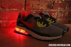 Womens Nike Air Max Captivate with RED lights Nike Air Max For Women, Nike Women, Custom Shoes, Red Lights, Footwear, Sneakers Nike, Lady, Collection, Fashion