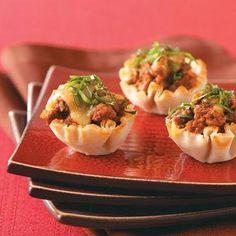 Easy handheld mini phyllo shells tacos recipe