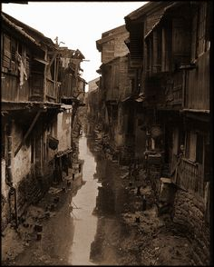 Interior Canal, Canton, China [c1917-1919] Sidney D. Gamble [RESTORED] by ralphrepo, via Flickr