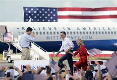Mitt Romney's fancy new plane (Photo: Erik S. Lesser / EPA) #NBCPolitics