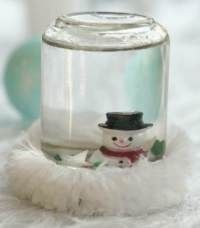 cute little snowglobe, for Christmas or for kids to make for a children's party - winter wonderland #Christmas #thanksgiving #Holiday #quote