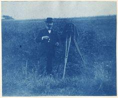 Photographer in a Field - Cyanotype, 1893