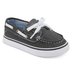 Toddler Boys' Clark Boat Shoes Cat & Jack - Grey 11, Toddler Boy's, Gray