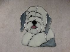 Old English Sheepdog Stained Glass Sun Catcher