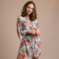 10 Best Satin Floral Robes images  09a3bf913