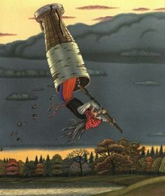 "Vladimir Vagin, ""Baba Yaga"". Baba Yaga, American, Painting, Art, Art Background, Painting Art, Kunst, Gcse Art, Paintings"