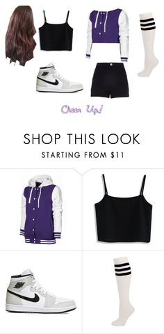 """""""Twice:Cheer Up Outfit"""" by lilykat004 on Polyvore featuring Chicwish, River Island, NIKE, kpop, cheerup and twice"""
