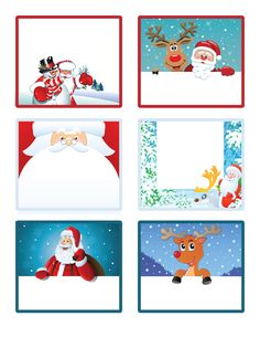 Free Printable Christmas Gift Tags/Labels from Letters from Santa!!