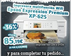 #Impresora Epson Multifuncion Expression Premium XP-625 Blanco CD. http://www.opirata.com/es/impresora-epson-multifuncion-expression-premium-xp625-blanco-p-29910.html