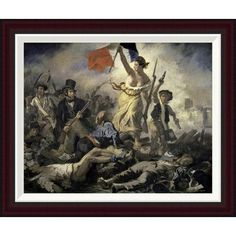 """Global Gallery Liberty Leading the People by Eugene Delacroix Framed Painting Print Size: 21.6"""" H x 26"""" W"""